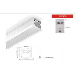 ALP105 1inch Aluminium LED profile For Recessed light